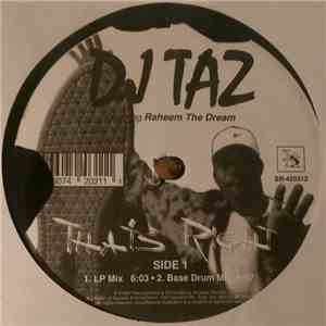 DJ Taz  Featuring Raheem The Dream - That's Right flac album