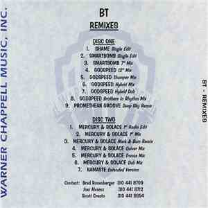 BT - Remixes flac album