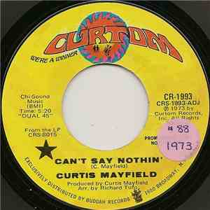 Curtis Mayfield - Can't Say Nothin' flac album