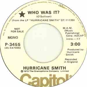 Hurricane Smith - Who Was It? flac album